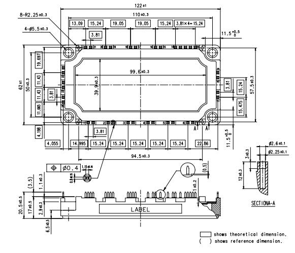 1200v 75a pim mosfet power module ic 7mbr75ub120