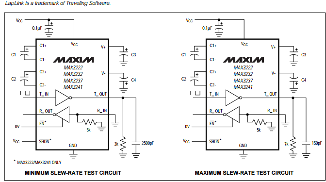 true rs232 transceivers max3232cpe integrated circuit chip