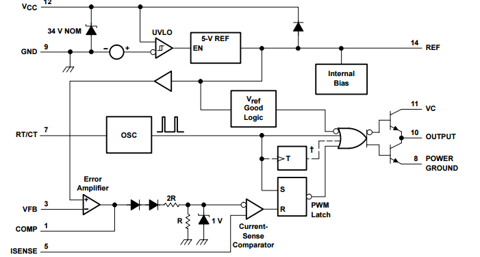 TL3844P Electronics Components , Current - Mode Pwm Controllers