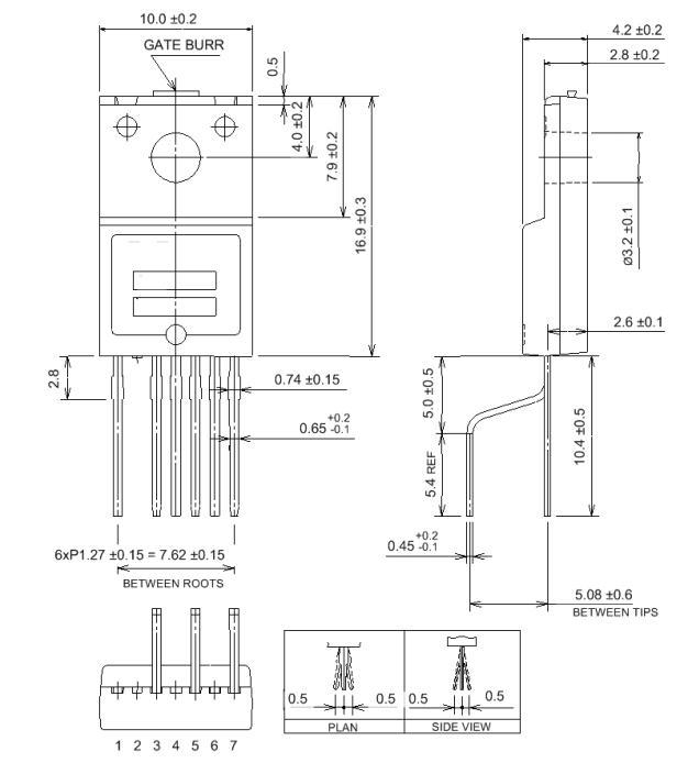 STRW6754 integrated transistor Integrated Circuit Chip Quasi
