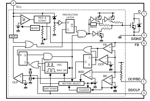 strw6756 transistor integrated circuit integrated circuit chip quasiresonant flyback switching