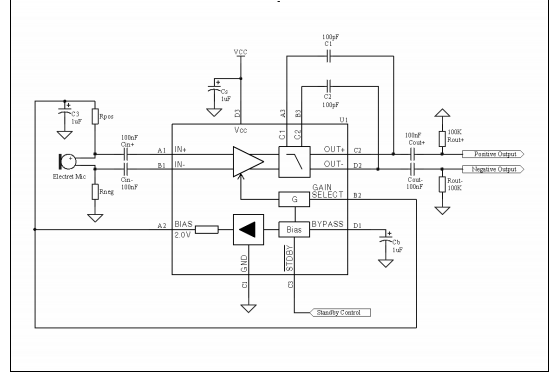 Microphone preamplifier amplifier Electronics Ic chip