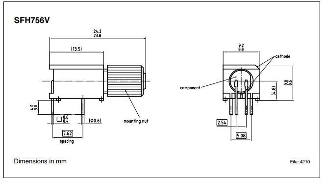 5 New Siemens SFH756V Fiber Optic TRANSMITTERS