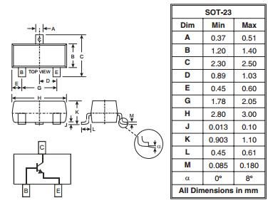 MMBT3904-7-F multi emitter transistor NPN SMALL SIGNAL SURFACE MOUNT