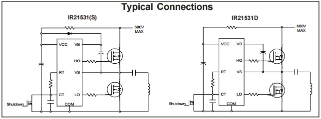 5PCS X IR21531S IC DRVR HALF BRDG SELF-OSC 8SOIC International