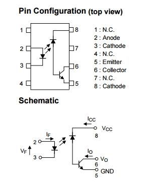 5PCS  TLP550 P550 DIP-8 Line Receiver Feedback Control  #K1995